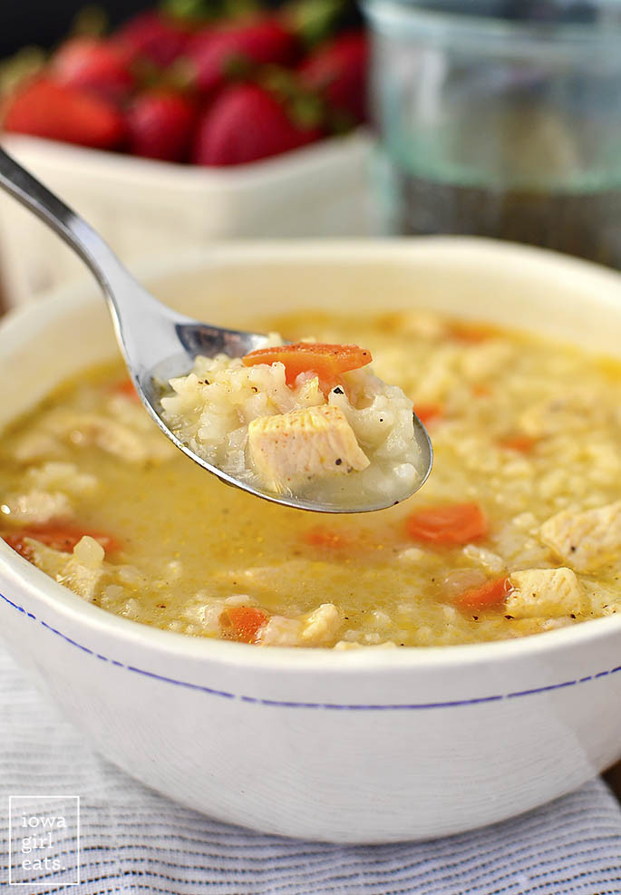 Chicken Soup With Rice  Easy Chicken and Rice Soup Gluten Free Soup Recipe