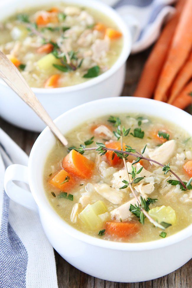 Chicken Soup With Rice  Easy Chicken and Rice Soup Recipe