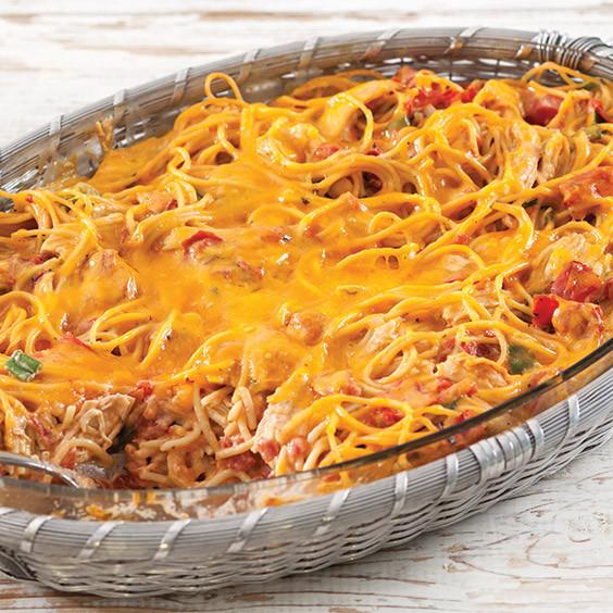 Chicken Spaghetti Recipe Paula Deen  Cheesy Baked Chicken Spaghetti Paula Deen Magazine
