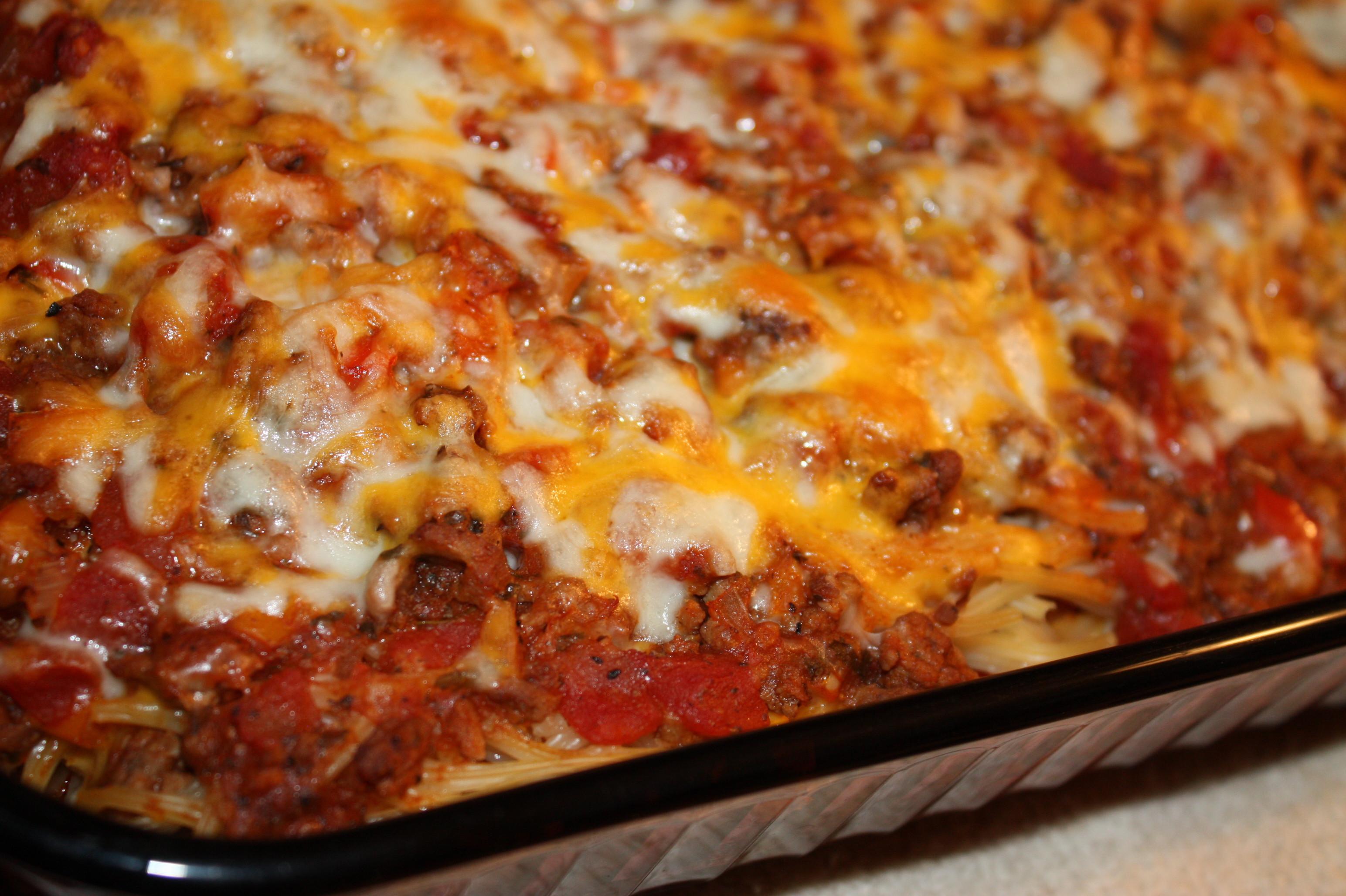 Chicken Spaghetti Recipe Paula Deen  paula deen baked spaghetti with cream cheese
