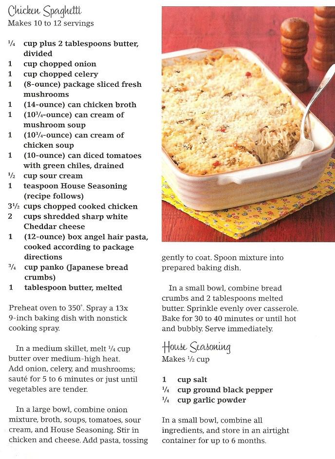 Chicken Spaghetti Recipe Paula Deen  Chicken Spaghetti from Paula Deen
