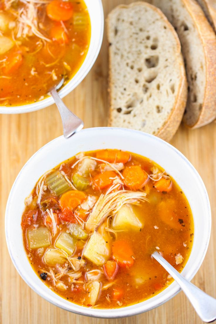 Chicken Stew Crock Pot  Zesty Crock Pot Chicken and Potato Stew Soups