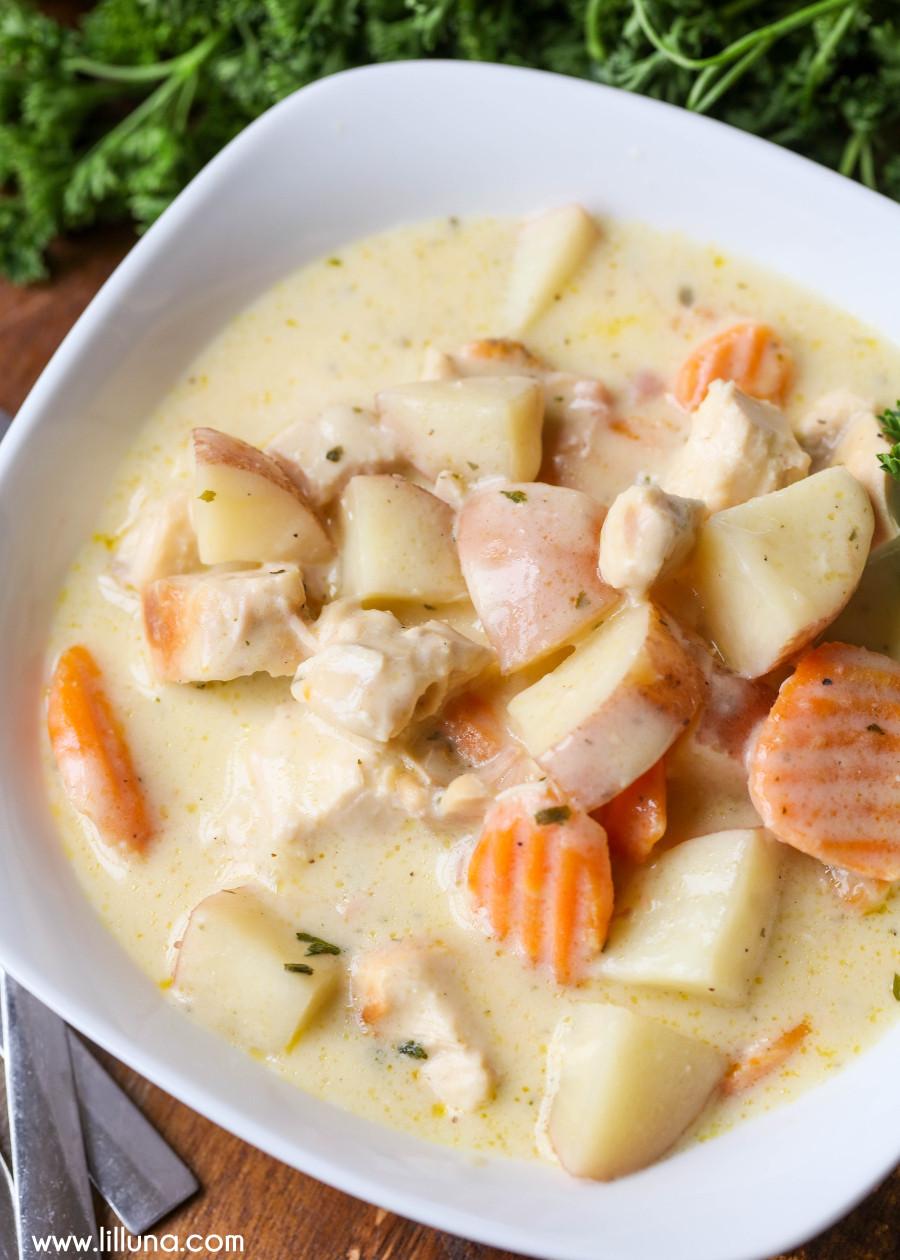 Chicken Stew Crock Pot Recipe  Creamy Crock Pot Chicken Stew Recipe