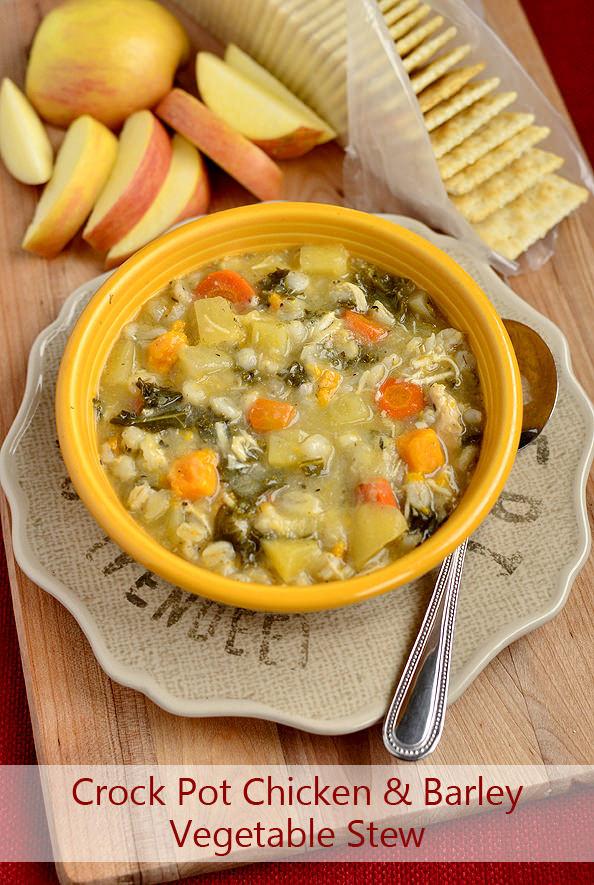 Chicken Stew Crock Pot Recipe  Crock Pot Chicken & Barley Ve able Stew Iowa Girl Eats