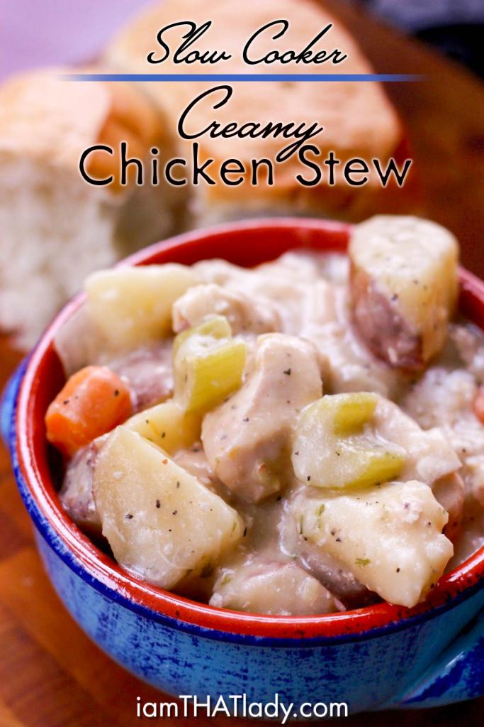 Chicken Stew Crock Pot Recipe  Slow Cooker Creamy Chicken Stew Lauren Greutman