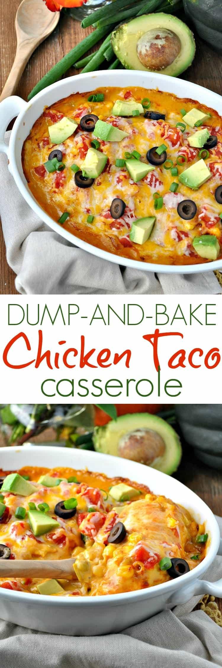 Chicken Taco Casserole  Dump and Bake Chicken Taco Casserole The Seasoned Mom