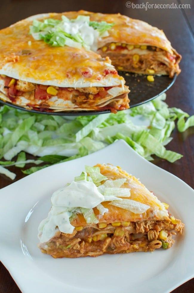 Chicken Taco Casserole  Cheesy Chicken Taco Stack Back for Seconds