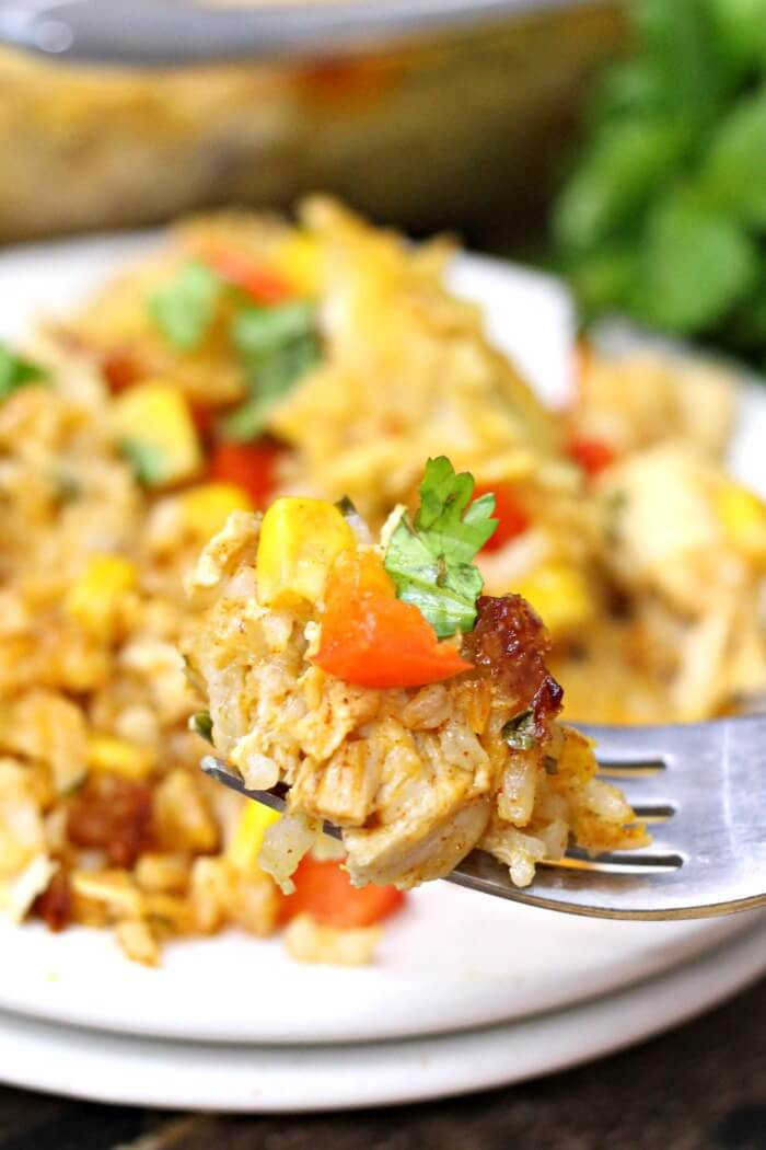 Chicken Taco Casserole  Easy Chicken Taco Casserole Recipe Mama Loves Food