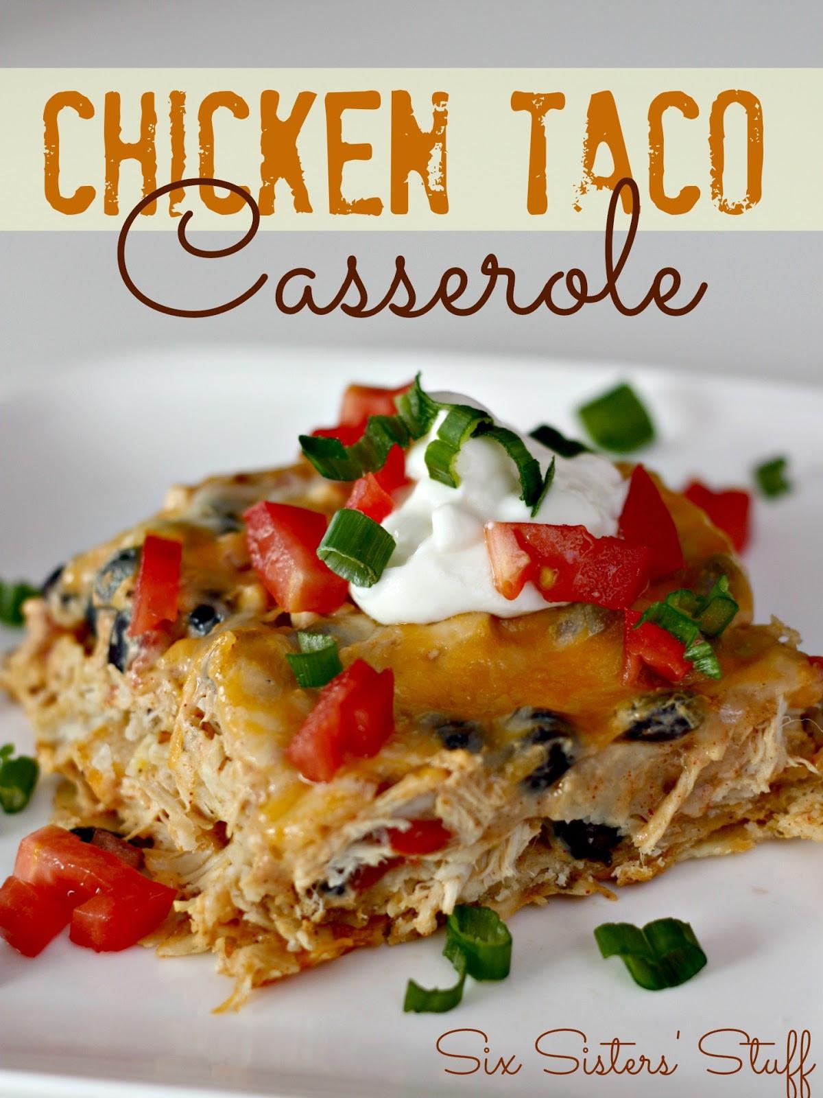 Chicken Taco Casserole  Chicken Taco Casserole