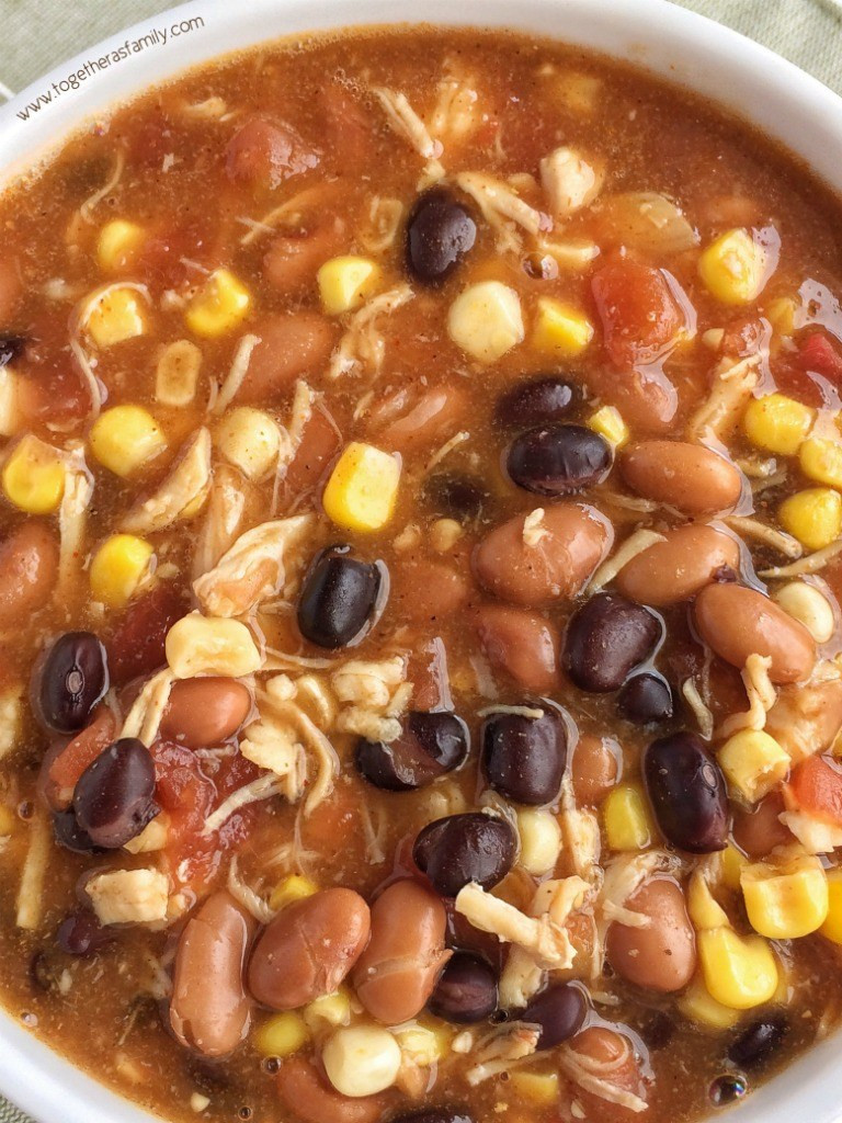 Chicken Taco Soup  7 Can Chicken Taco Soup To her as Family