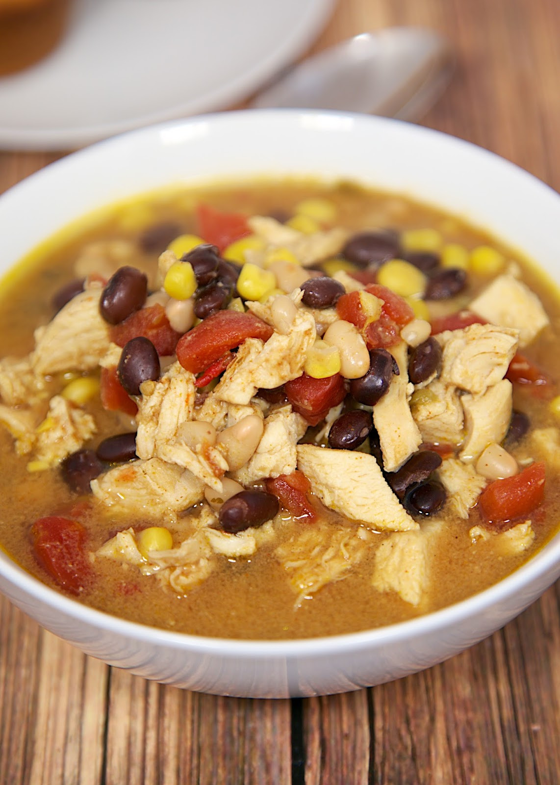 Chicken Taco Soup  Slow Cooker Chicken Taco Soup