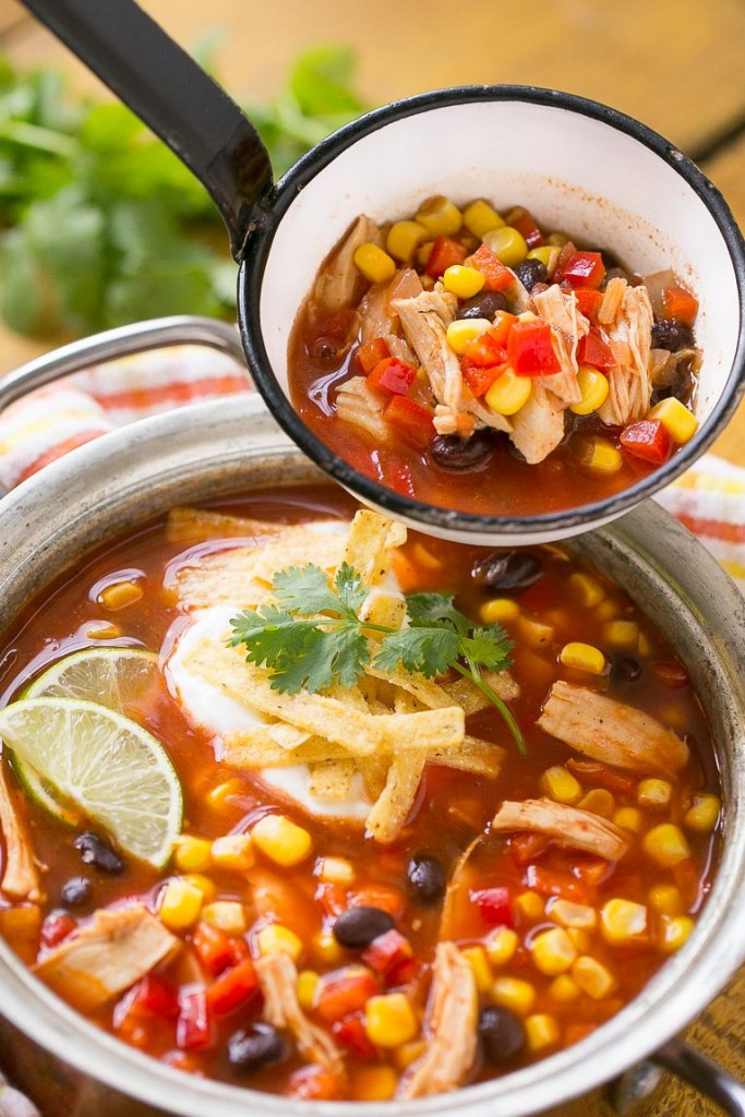 Chicken Taco Soup  Quick and Easy Chicken Taco Soup Dinner at the Zoo