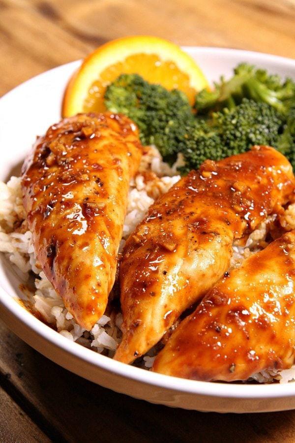 Chicken Tenders Recipe  Hoisin Orange Chicken Tenders Recipe Girl