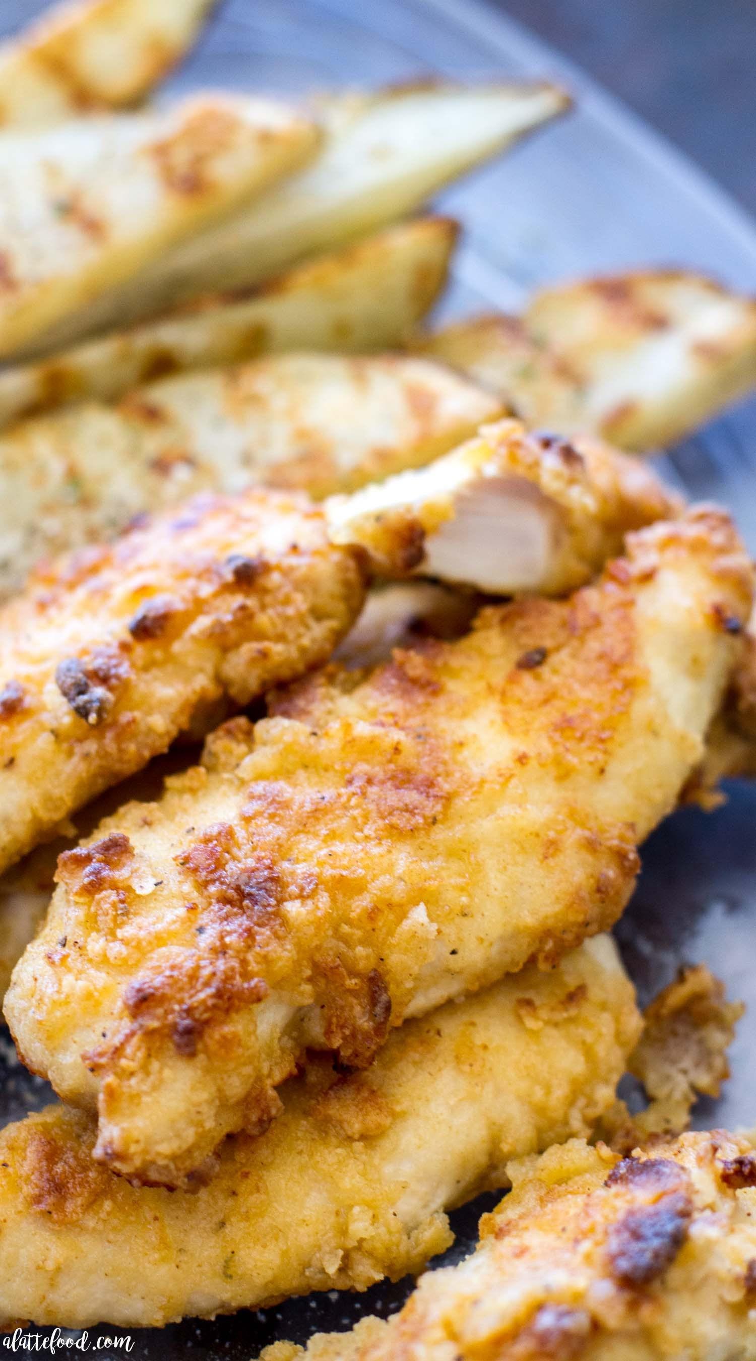 Chicken Tenders Recipe  Oven Baked Ranch Chicken Tenders A Latte Food