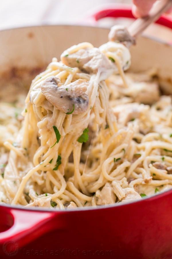 Chicken Tetrazzini Casserole  Chicken Tetrazzini Recipe NatashasKitchen