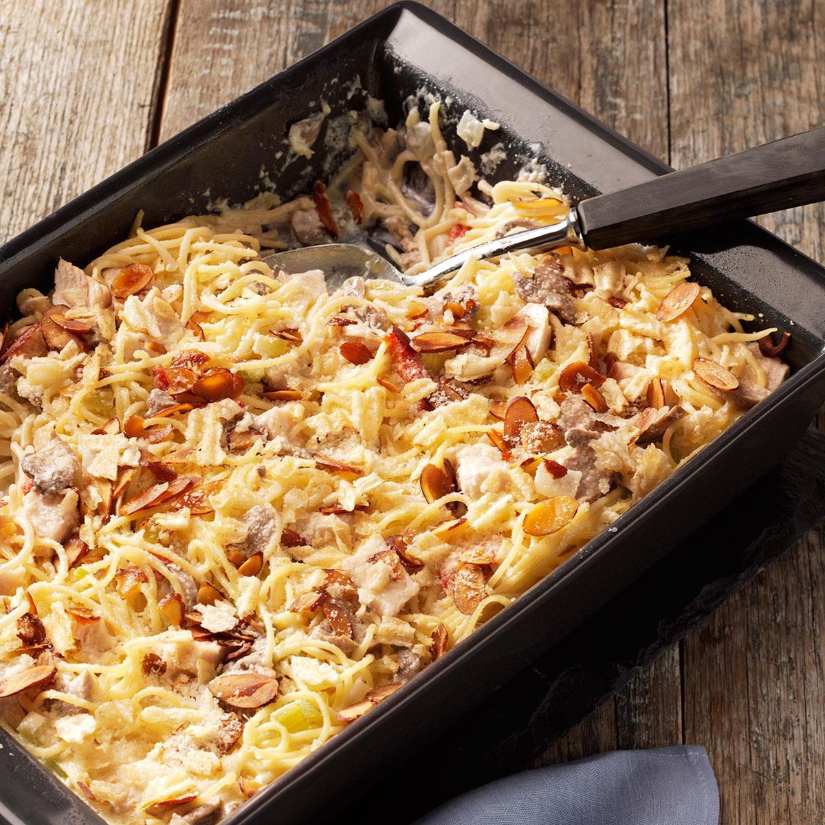 Chicken Tetrazzini Casserole  Creamy Chicken Tetrazzini Casserole Recipe