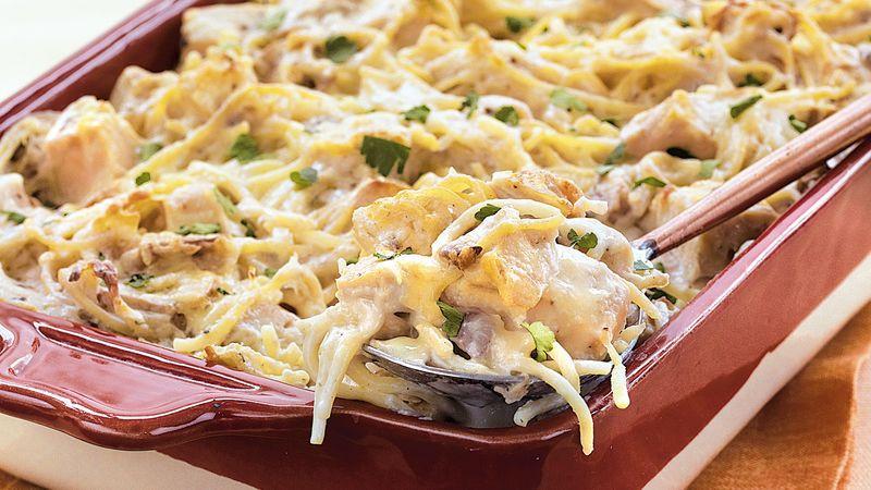 Chicken Tetrazzini Casserole  Chicken Tetrazzini recipe from Betty Crocker