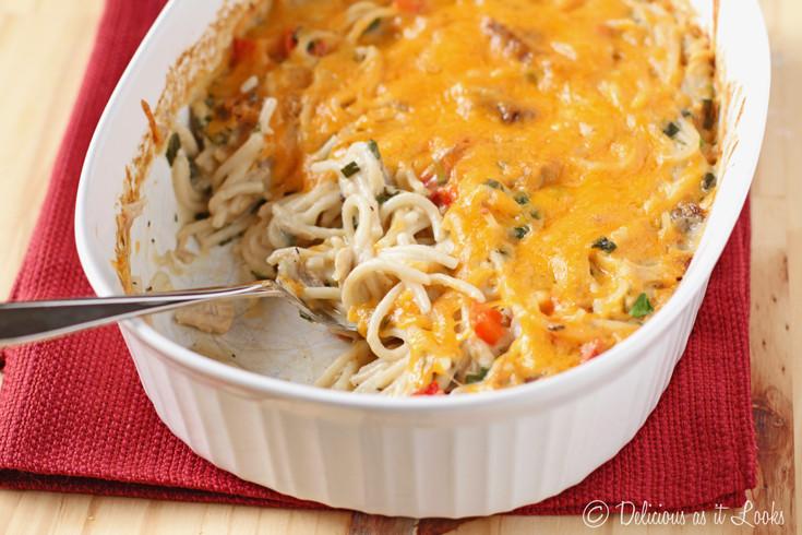 Chicken Tetrazzini Casserole  Delicious as it Looks Low FODMAP Turkey or Chicken