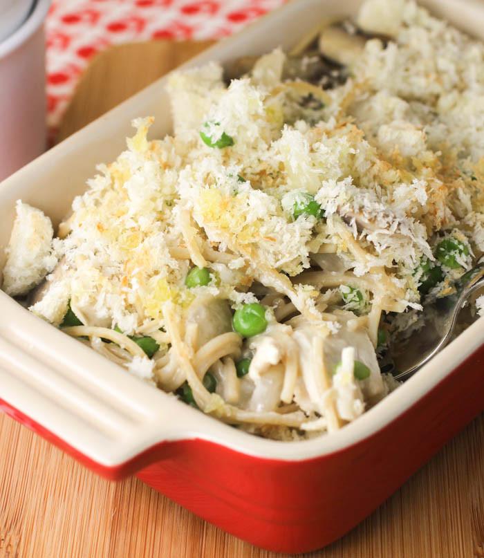 Chicken Tetrazzini Casserole  Healthy Chicken Tetrazzini SundaySupper citronlimette