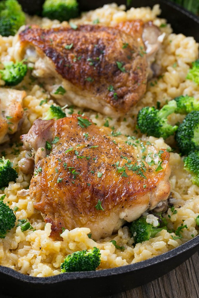 Chicken Thigh Casserole  Chicken Broccoli and Rice Casserole Dinner at the Zoo
