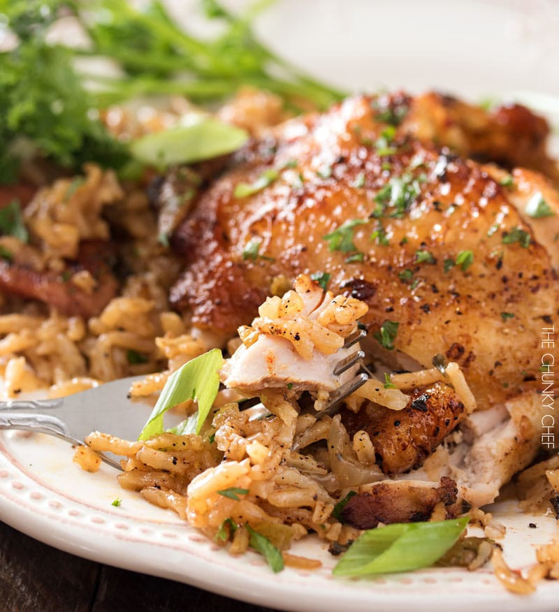 Chicken Thighs And Rice  e Pot Chicken and Dirty Rice The Chunky Chef