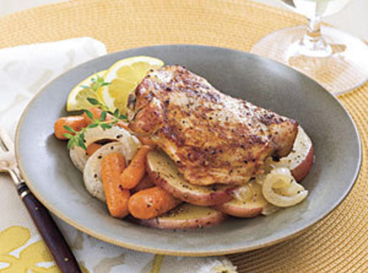 Chicken Thighs In Crock Pot  Crock Pot Braised Chicken Thighs Recipe