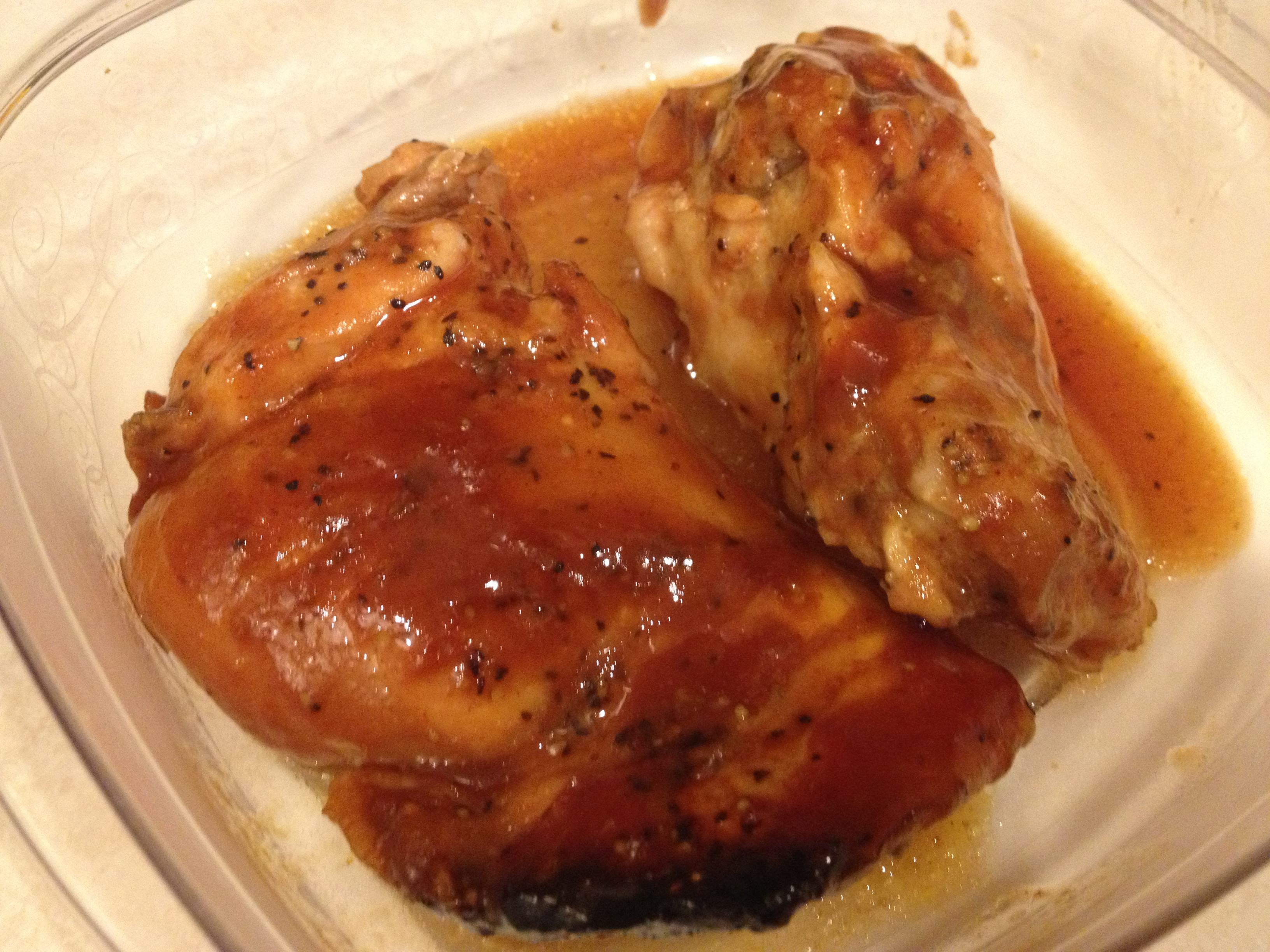 Chicken Thighs In Crock Pot  Crock pot BBQ Chicken Thighs