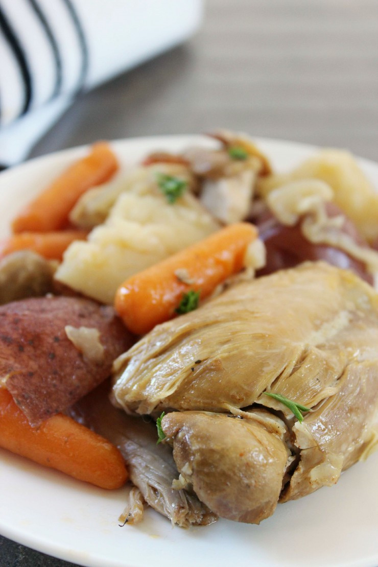 Chicken Thighs In Crock Pot  Crock Pot Chicken Thighs with Potatoes & Carrots Life