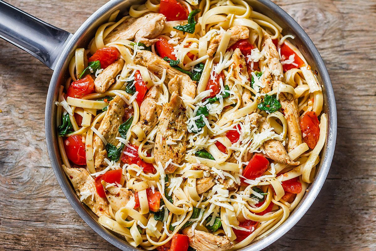 Chicken Tomato Pasta  Chicken Pasta Recipe with Tomato and Spinach — Eatwell101