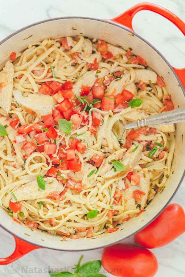 Chicken Tomato Pasta  chicken tomato sauce pasta recipe
