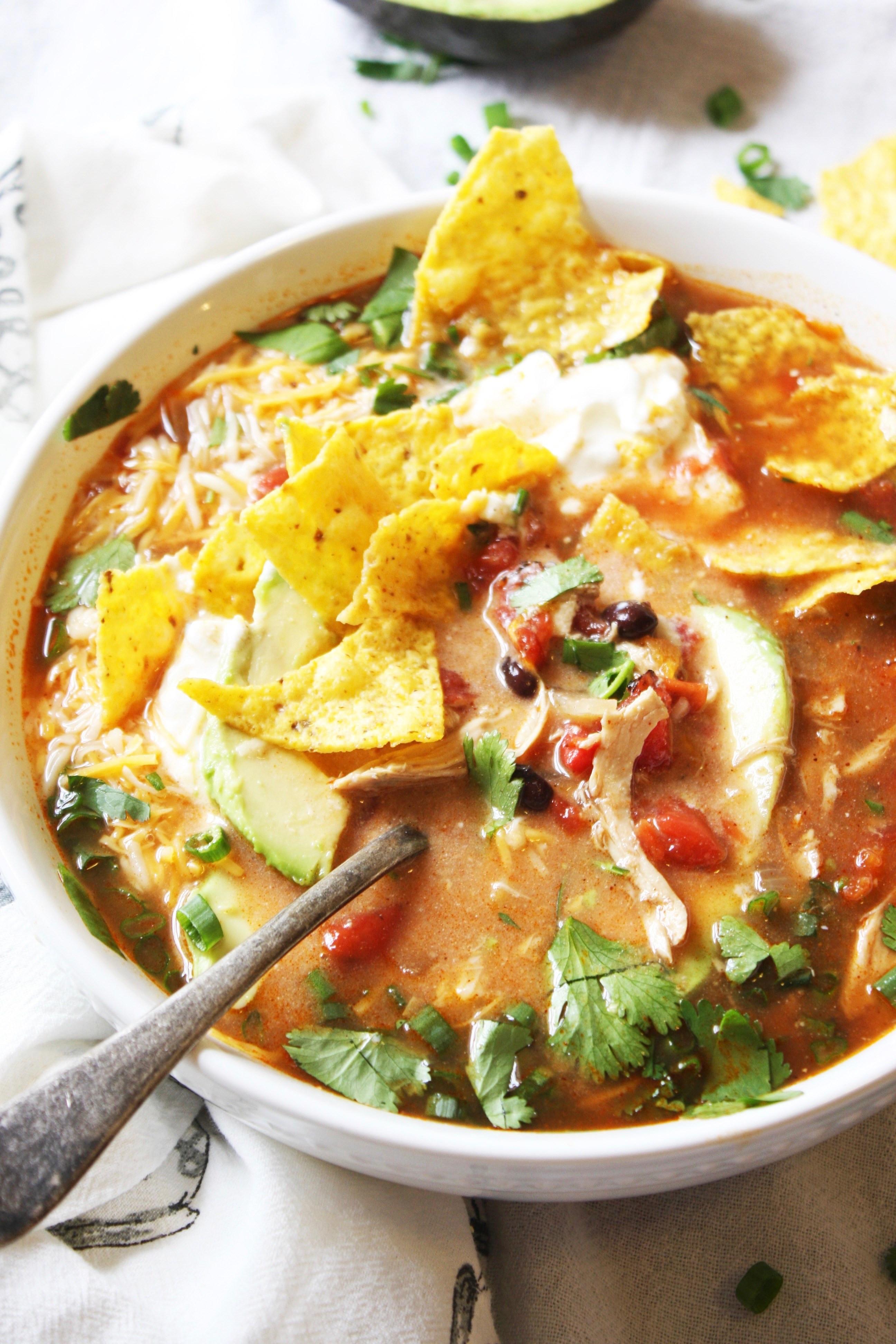 Chicken Tortilla Soup Easy  Chicken Tortilla Soup