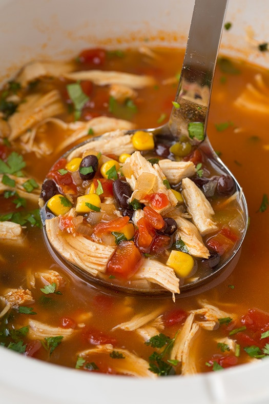 Chicken Tortilla Soup Easy  Slow Cooker Chicken Tortilla Soup Cooking Classy