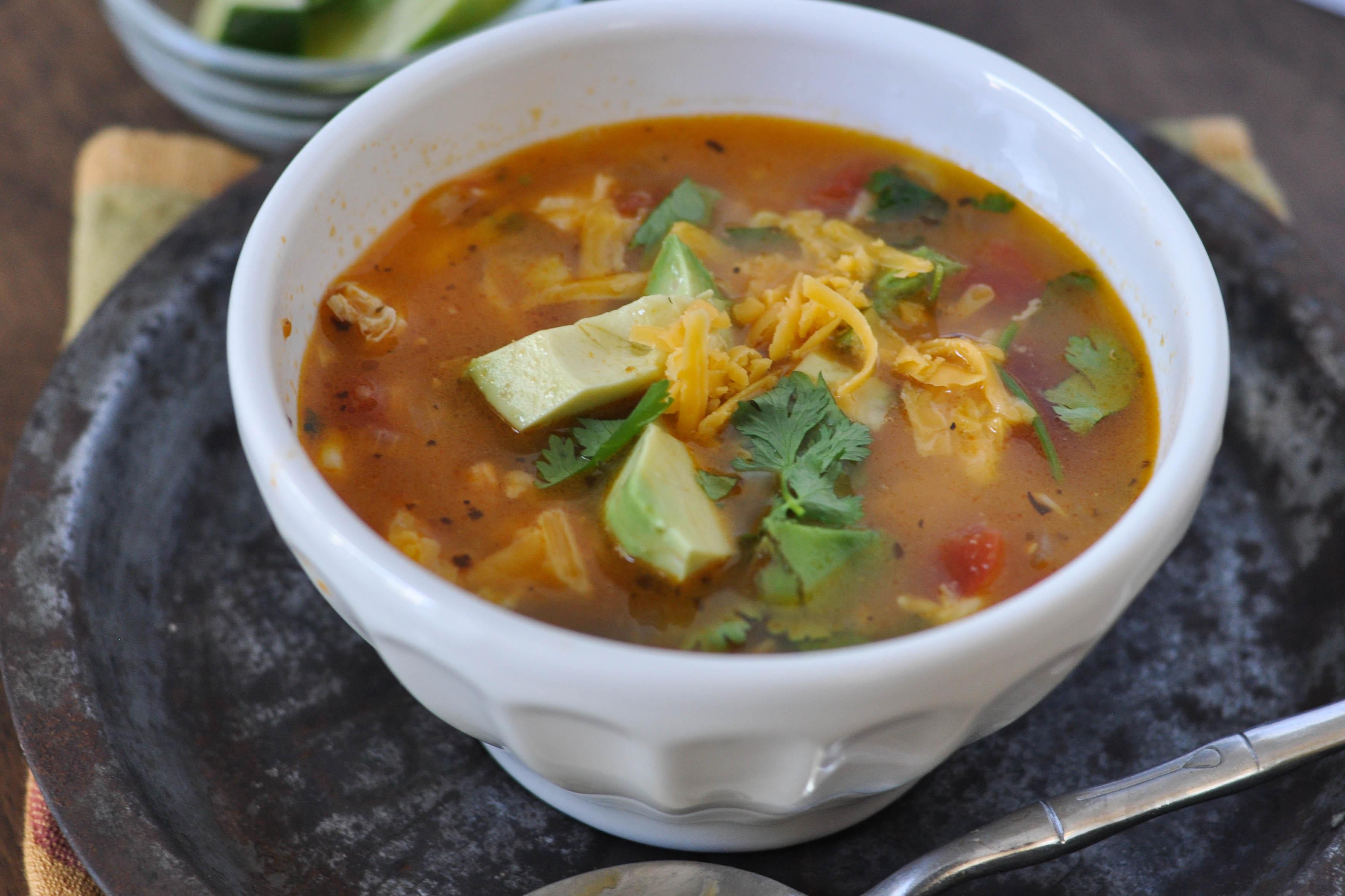 Chicken Tortilla Soup Easy  Mom s Simple Chicken Tortilla Soup