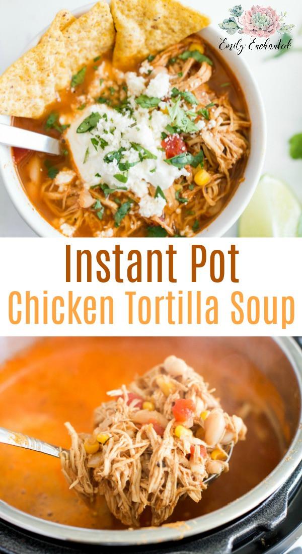 Chicken Tortilla Soup Instant Pot  Instant Pot Chicken Tortilla Soup Recipe