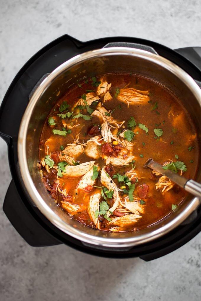 Chicken Tortilla Soup Instant Pot  Instant Pot Chicken Tortilla Soup Recipe • Salt & Lavender