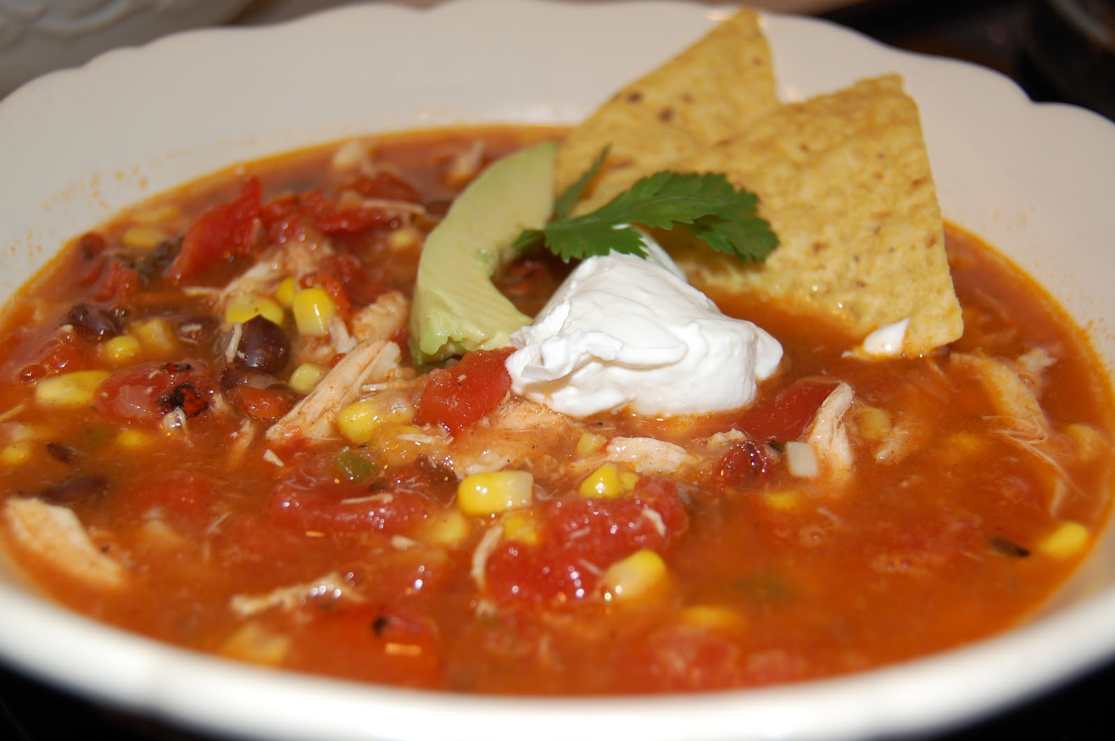 """Chicken Tortilla Soup Rachel Ray  Table for Two Rachel Ray s """"Ancho Chicken Tortilla Soup"""""""