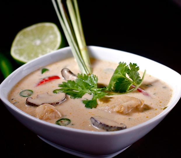 Chicken Velvet Soup  Thai Coconut and Velvet Chicken Soup Recipe RecipeChart
