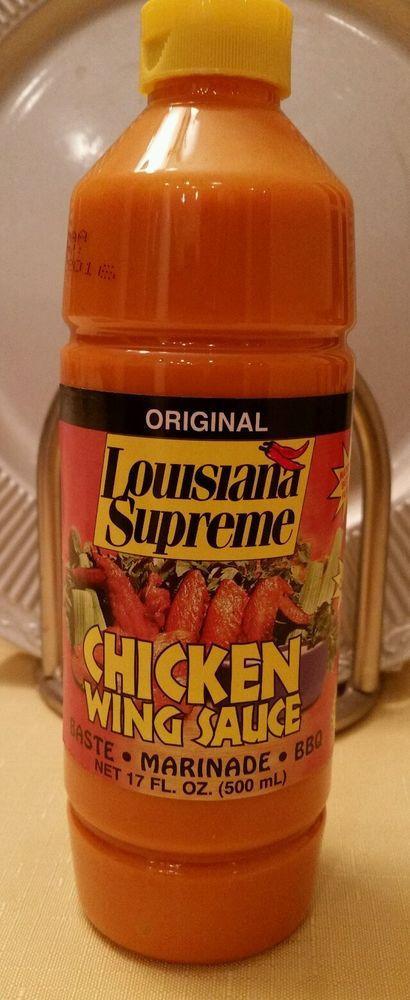 Chicken Wing Sauces  Louisiana Supreme Chicken Wing Sauce BBQ Women Man 17 oz