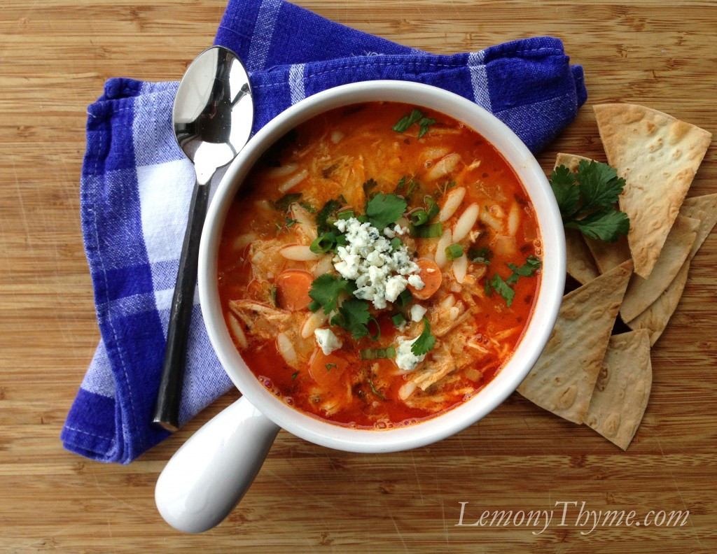 Chicken Wing Soup  Buffalo Wing Chicken Soup with Orzo Lemony Thyme