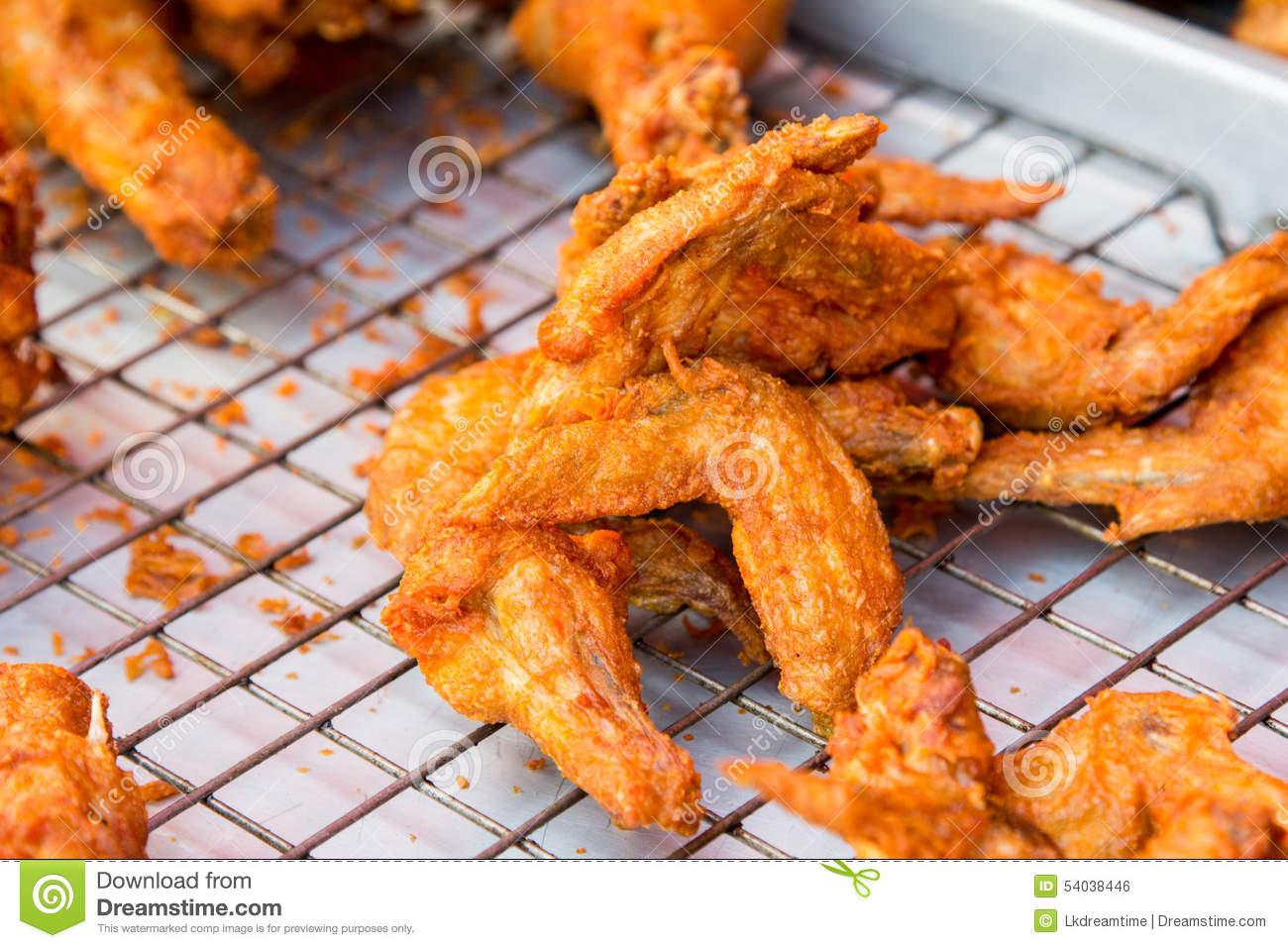 Chicken Wings On Sale  Fried Chicken Wings Stock Image