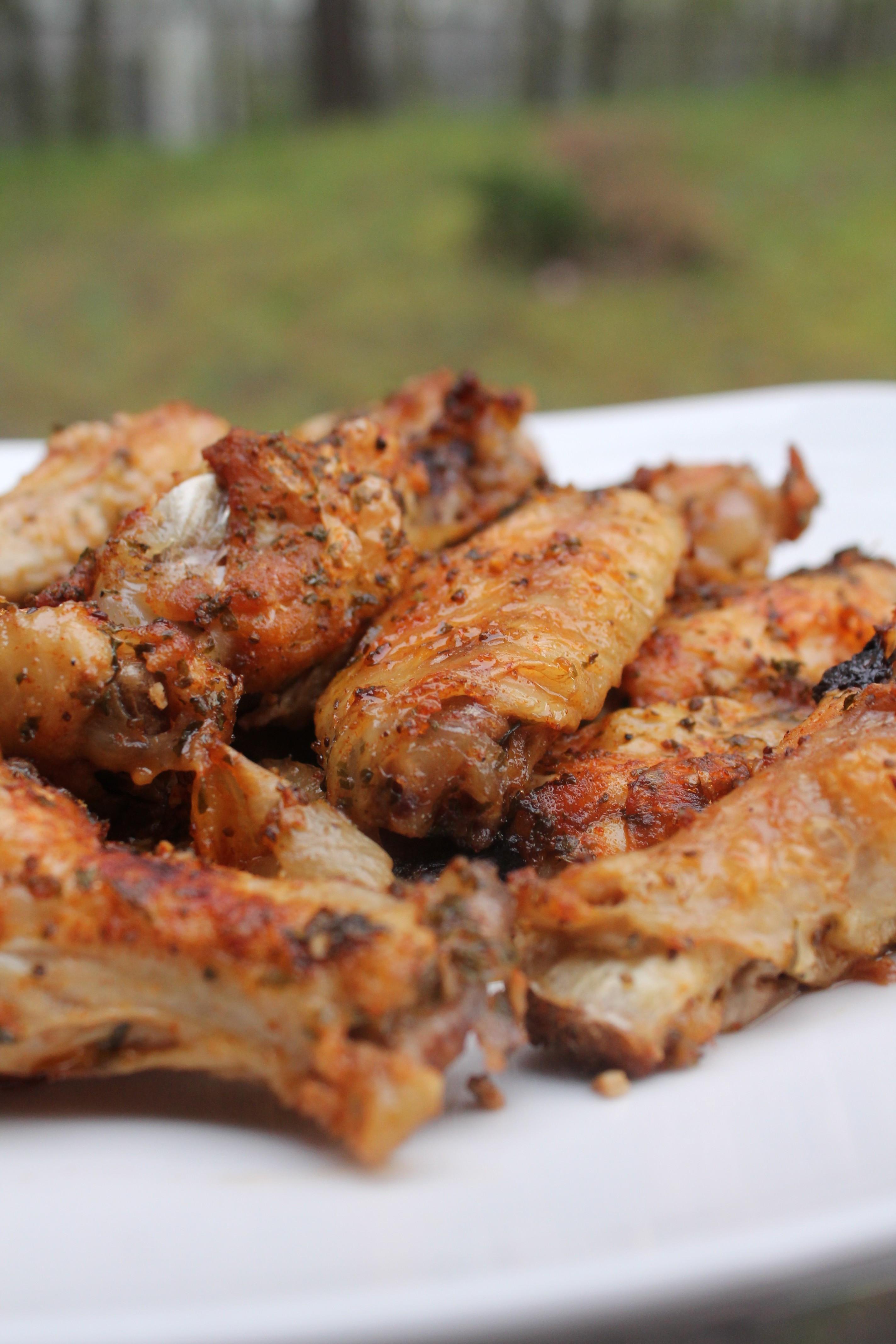 Chicken Wings Recipe Baked  Baked Garlic & ion Chicken Wings