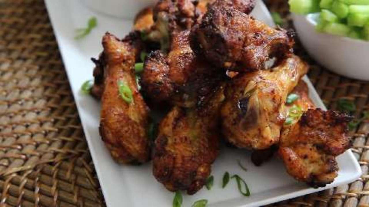 Chicken Wings Recipe Baked  Baked Chicken Wings Video Allrecipes