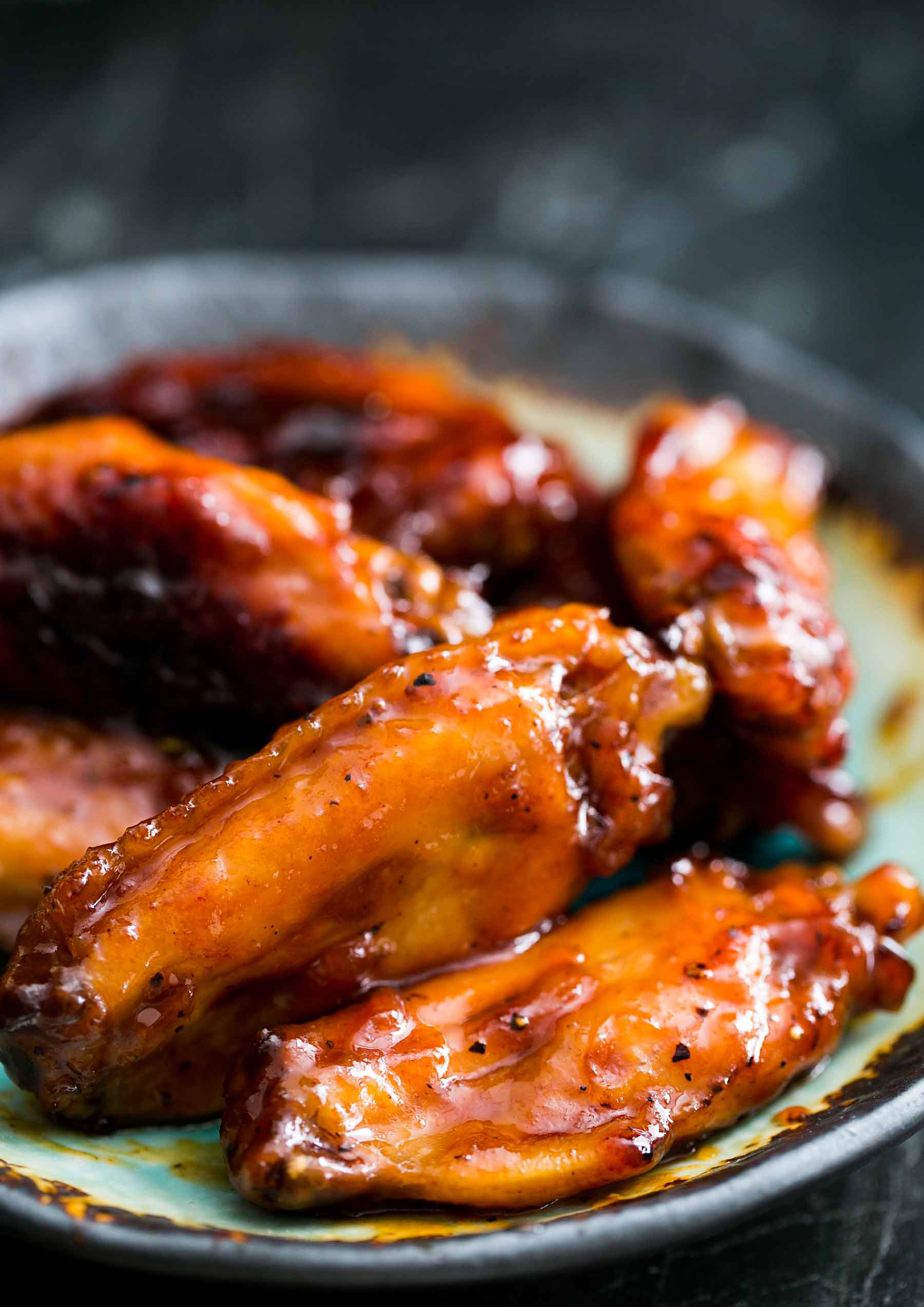 Chicken Wings Recipe  Bourbon Maple Glazed Chicken Wings Recipe