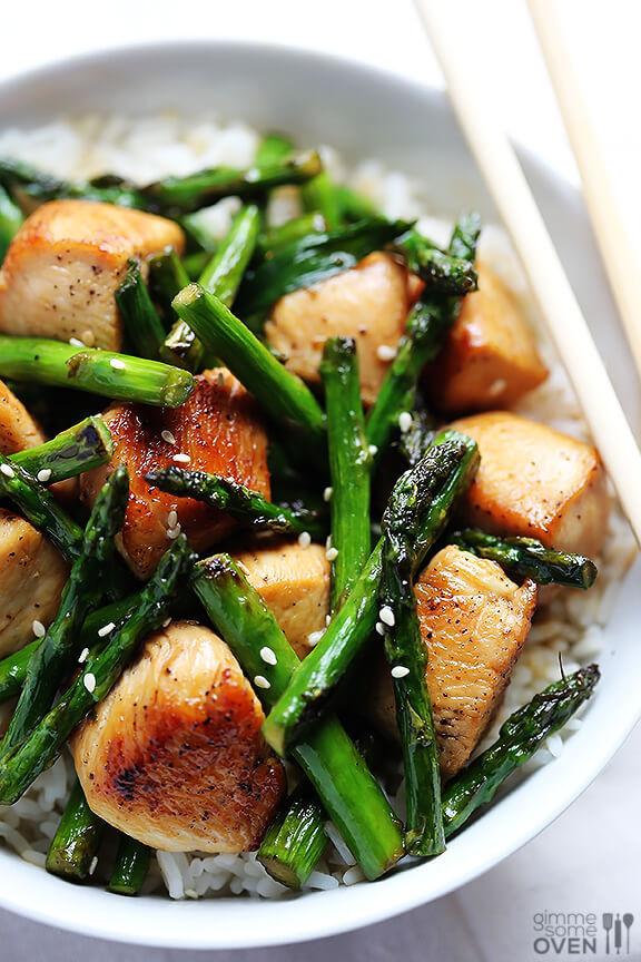 Chicken With Asparagus  Chicken and Asparagus Stir Fry