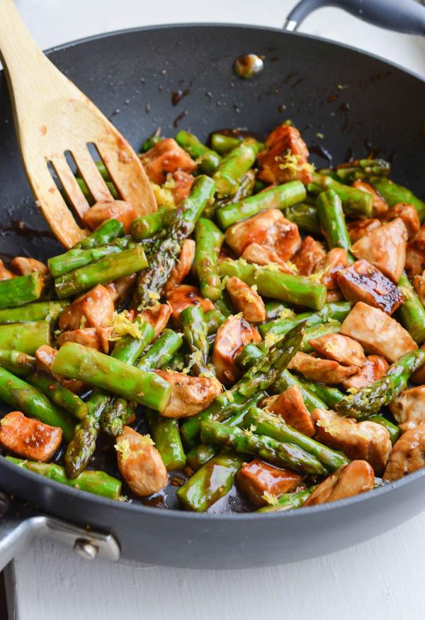 Chicken With Asparagus  Rachel Schultz LEMONY CHICKEN STIR FRY WITH ASPARAGUS