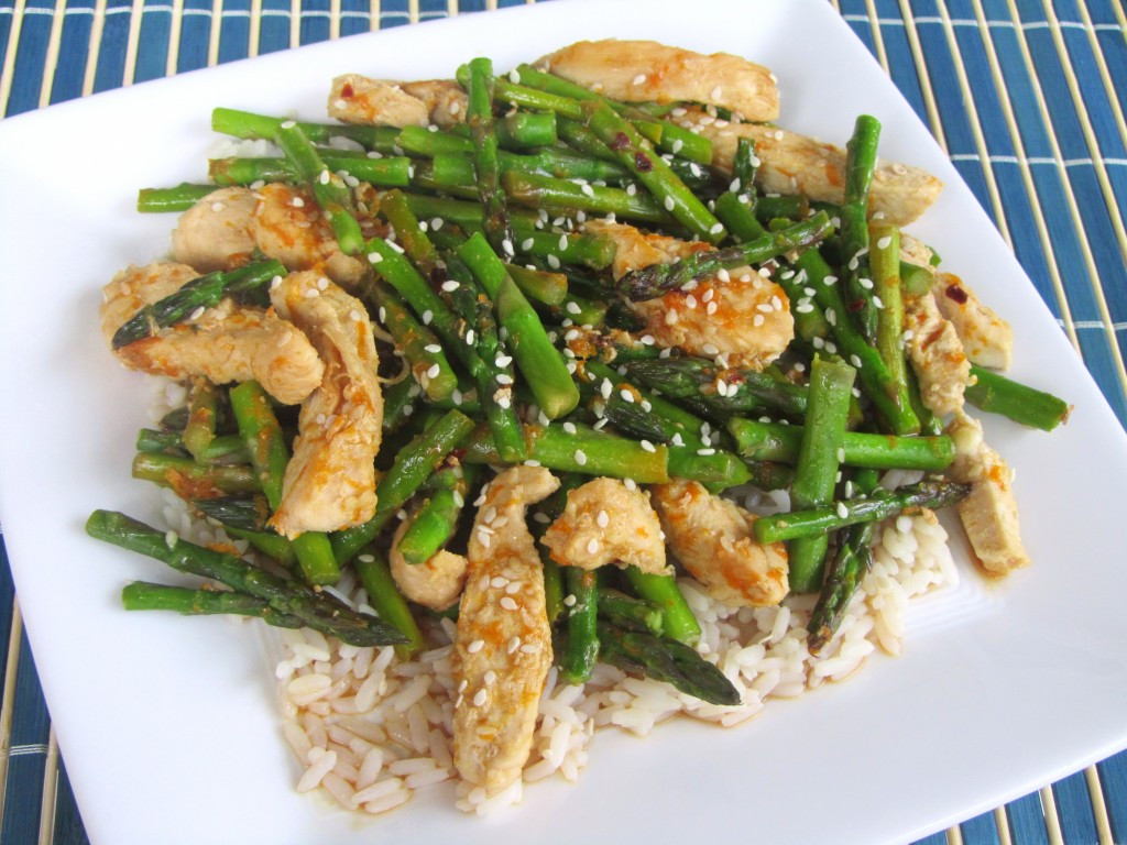 Chicken With Asparagus  Orange Chicken with Asparagus