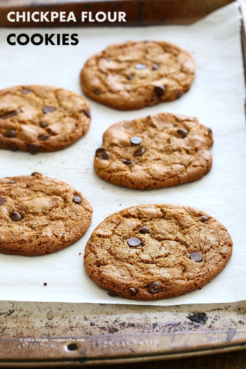 Chickpea Chocolate Chip Cookies  Chickpea Flour Chocolate Chip Cookies Gluten free Vegan