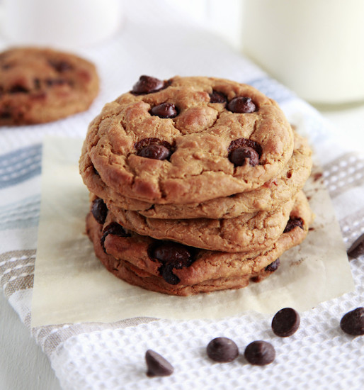 Chickpea Chocolate Chip Cookies  Lose Baby Weight Chocolate Chip Chickpea Protein Cookies