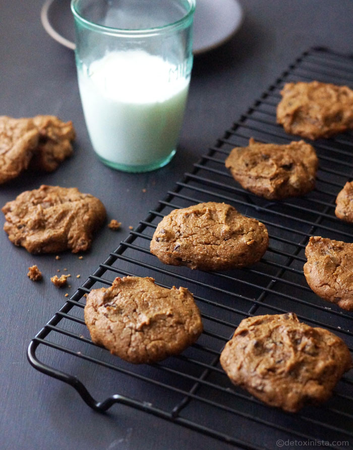 Chickpea Chocolate Chip Cookies  Vegan Chickpea Chocolate Chip Cookies Gluten free Nut