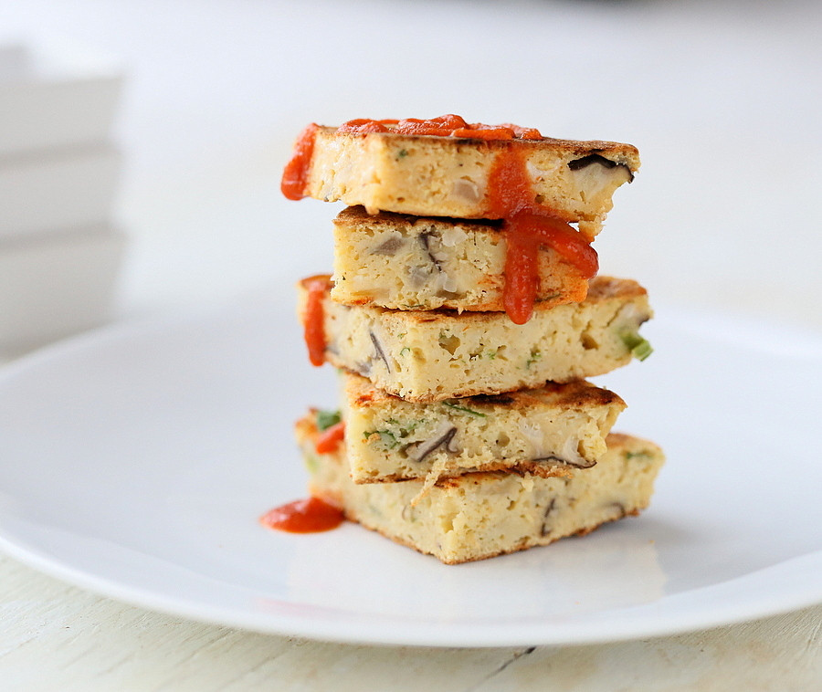 Chickpea Flour Pancakes  Chickpea Flour Pancakes mini Omelettes with Cauliflower